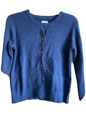 Gymboree Girl's 14 Blue Ribbed Cotton Cardigan Uniform Sweater NWOT