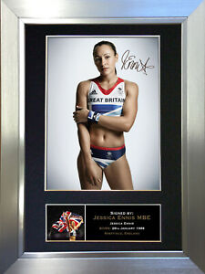 JESSICA ENNIS Signed Autograph Mounted Photo Repro A4 Print 266