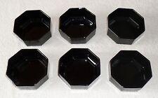 ARCOROC OCTIME 6 x Schalen Obstschalen Dessertschalen Müslischalen in schwarz ⭐️