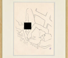Jean Cocteau Drawing Nude Male Youth Gay Erotic French Homosexual Sketch Smoking