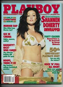 December 2003 Playboy Magazine ~ Shannen Doherty Cover & Nudes ~ FINE