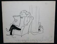 Tin Can Telephone Humorama Gag - Signed - Signed art by Al Ross