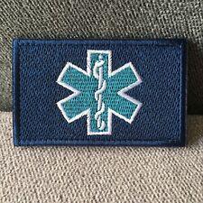 MEDIC NURSE Paramedic EMT Embroidered Tactical Morale Army Hook Loop Patch Blue