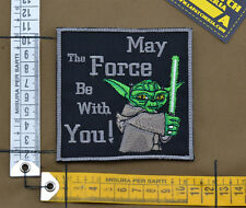 "Ricamata / Embroidered Patch Star Wars ""May the Force"" with VELCRO® brand hook"