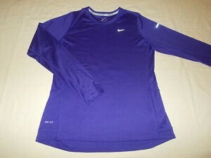 NIKE MILER DRI-FIT LONG SLEEVE PURPLE RUNNING TOP WOMENS LARGE EXCELLENT COND.
