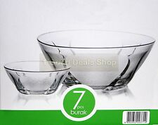 6 +1 pc Glass Bowls Set Dessert Dishes Ice Cream Sundae Fruit Trifle Gift BURAK