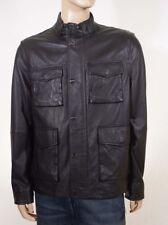 Michael Kors Men's Black Sheepskin Leather Removable Sleeves Vest Jacket Coat XL