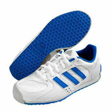 adidas en garde Men's Fencing Shoes White Blue Fencer Foil Non-Marking BB4953