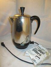 VINTAGE FARBERWARE PERCOLATOR AUTOMATIC FCP-280 COFFEE POT ELECTRIC 2-8 CUP