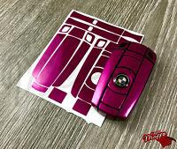 Pink Fuchsia Gloss Key Fob Wrap Cover Overlay BMW 1 3 5 6 Series Z4 X1 3 X5 X6 M
