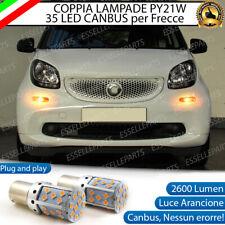 COPPIA LAMPADE PY21W CANBUS 35 LED SMART FORFOUR 454 FRECCE ANTERIORI NO ERROR