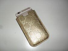 CUSTODIA PORTA CELLULARE GUCCI IN PELLE SERIE GUCCISSIMA COLORE ORO iphone
