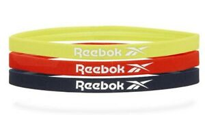 Reebok Unisex Sports Headband Running 3PK Yellow Red Hairband Bands RRAC-18012