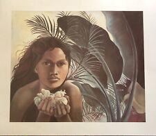 Vintage Hawaii Art Print Hawaiian Girl Jean Jack