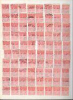 CMY1) Australia KGV 1d red x 640 in stockbook