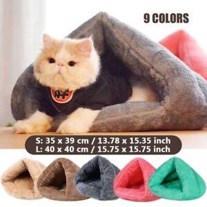 Pet Puppy Dog Cat Kitten Soft Warm Sleeping Bag Cave Bed Mat Tent Kennel Nest