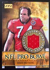 2000 Bowman Reserve #PB-BM Bruce Matthews Pro Bowl Worn Jersey Oilers Titans HOF