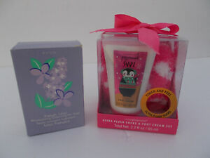 lot - Simple pleasures ultra plush footcare and Avon french soap bundle, new