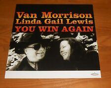 Van Morrison Linda Gail Lewis You Win Again Poster Flat 2000 Promo 12x12 RARE