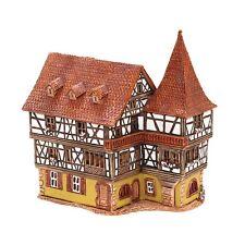 Keramik Teelichthaus Lichterhaus Teelichthalter Fachwerkhaus Rund 9,5 cm 40552