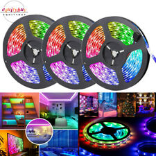 16/32/50ft LED Strip Lights Flexible RGB 3528 SMD 5/10/15m 44Key Remote Room Bar