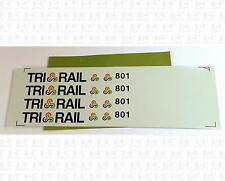 Unknown Brand HO Decals Florida Tri-Rail Passenger Car Unpackaged