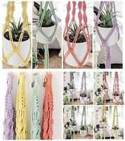 Macrame Plant Hangers - Pastel Colours - Small, Large or Duo