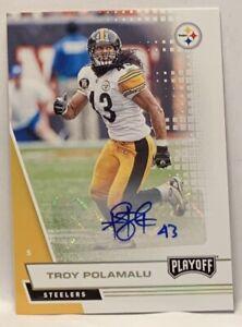 Troy Polamalu 2020 Panini Playoff Autograph
