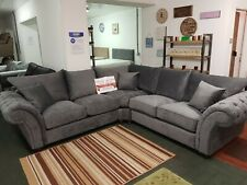 Grey Chesterfield Corner Sofa