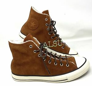 Converse Chuck Taylor AS High Suede Fur Cinnamon Women Sneakers 566563C