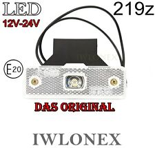1x LED Umrissleuchte Markierungsleuchte Positionsleuchte Weiß 12V 24V ABE 219z