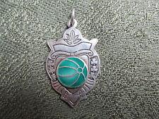 Irish Silver Sports Medal.  1955.         Green Ball.     Irish / Ireland