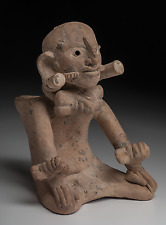 Pre-Columbian Early Maya Seated Deity Figure Ca. 300-600 A.D. Rare Example!