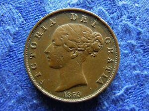 UK 1/2 PENNY 1853, KM726