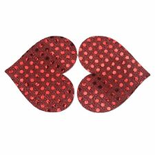 Adhesive Bra Pad Red Sequin heart Disposable Pasties Breast Nipple Cover Sticker