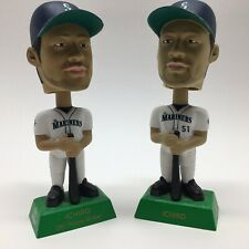 Vintage 2001 Ichiro Suzuki (2) Bobbleheads Seattle Mariners MLB Great Condition