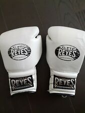 Cleto Reyes 14oz Black/White Laced Leather Sparring Boxing Gloves