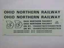 DM Custom Decals HO Scale Ohio Northern Railway ~ TS
