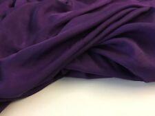 "MY NEW Purple Colour Silk / Viscose Fabric 59"" 150cm Natural Cloth Dress Garment"