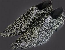 100% CHELSY - Italiano Diseñador Zapatos de cordones Patrón Red Leopardo 42