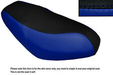 BLACK & ROYAL BLUE CUSTOM MADE FITS SYM SUPER DUKE 125 DUAL LEATHER SEAT COVER