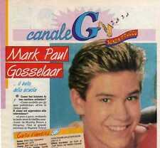 Q32 Clipping-Ritaglio 1994  Mark Paul Gosselaar ...il bello della scuola