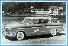 "12 By 18"" Black & White Picture 1956 Hudson Hornet 2 Door Hardtop"