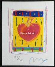 """PETER MAX-""""HEART SERIES IV""""-LIMITED ED. LITHOGRAPH SIGNED BY ARTIST-ART-PRINTS"""