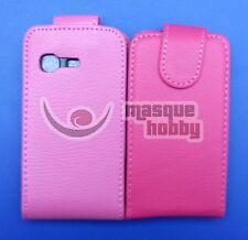 Funda Carcasa de Piel Cuero Samsung Galaxy Chat B5330 Rosa PO NUEVO