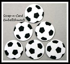 • • • Die Cuts ~ SOCCER BALLS x8 ~ Stampin' Up Card Stock ~ Cards, Scrapbooking
