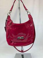 COACH Patent Leather Convertible Hobo Crossbody - Fusha Pink - Style 1126-19299