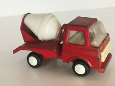 """Buddy L Cement Mixer Truck Pressed Steel Vintage Toy Red Construction Japan 4"""""""