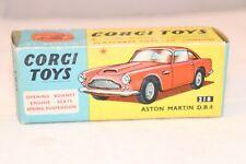Corgi Toys 218 Aston martin D.B.4 empty fresh near mint complete original box