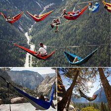 Nylon Double Person Hammock Outdoor Parachute Travel Camping Garden Sleeping Bed